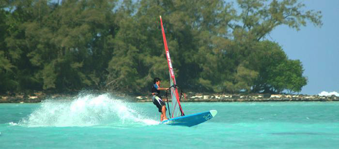 Windsurfing : Cook Islands : Muri Lagoon 12